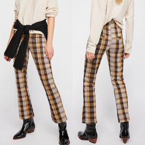 Free People High Waisted Clean Crop Flare Pants
